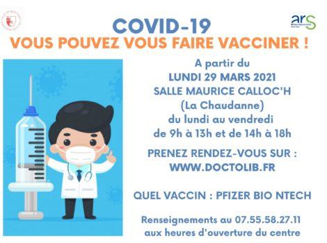 Ouverture d'un grand centre de vaccination
